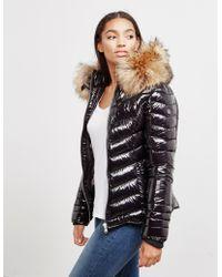 FROCCELLA - Womens Glossy Chevron Jacket Black - Lyst