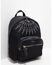 Neil Barrett - Mens Bolt Backpack - Online Exclusive Black - Lyst