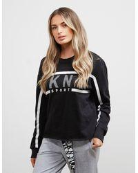 DKNY Sport Stripe Sweatshirt Black
