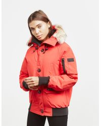 Canada Goose - Womens Chilliwack Padded Bomber Jacket Red - Lyst