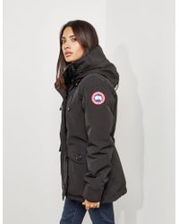 Canada Goose - Womens Rideau Padded Parka Jacket Black - Lyst