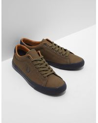 Fred Perry - Mens Underspin Waxed Khaki/black - Lyst