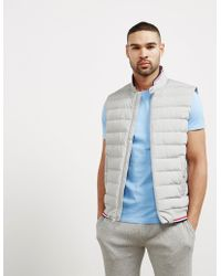Polo Ralph Lauren - Mens Double Knit Technical Padded Gilet Grey Marl/grey Marl - Lyst