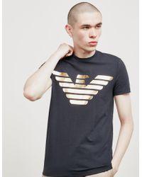 Emporio Armani - Foil Eagle Short Sleeve T-shirt Navy Blue - Lyst