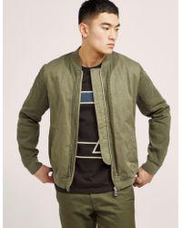 Folk - Mens Slouch Bomber Jacket - Online Exclusive Khaki - Lyst