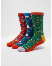 Happy Socks - 3-pack Christmas Music Box Socks Multi - Lyst