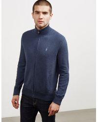 Polo Ralph Lauren - Mens Pima Full Zip Knit Grey - Lyst