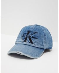 baf96efbf69 Calvin Klein - Womens Re Issue Cap Blue - Lyst