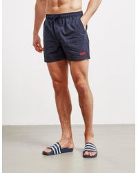 Barbour - Small Logo Swim Shorts Navy Blue - Lyst