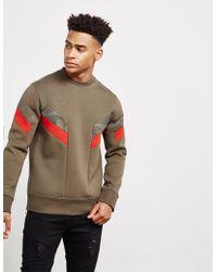 Neil Barrett - Mens Camo Stripe Sweatshirt Olive - Lyst