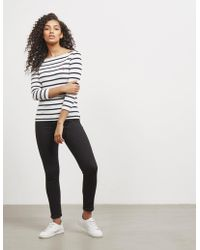Polo Ralph Lauren - Womens Three Quarter Sleeve T-shirt White - Lyst