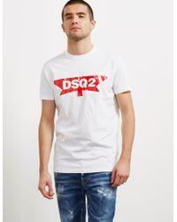DSquared² - Mens Half Maple Short Sleeve T-shirt White - Lyst