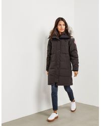 Canada Goose - Womens Shelburne Padded Parka Jacket Black - Lyst