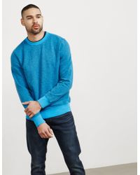PS by Paul Smith | Mens Garment Dyed Crew Sweatshirt Blue | Lyst