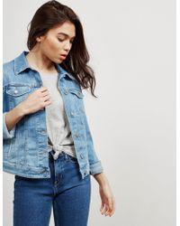 BOSS - Womens Portland Denim Jacket - Online Exclusive Blue - Lyst