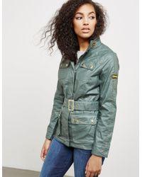 Barbour - Womens International Bearing Belt Jacket Green - Lyst