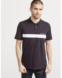 CALVIN KLEIN 205W39NYC - Mens Pertolis Block Short Sleeve Polo Shirt Black - Lyst