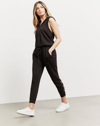 DKNY - Womens Hooded Jumpsuit - Online Exclusive Black - Lyst