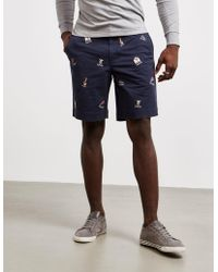 Polo Ralph Lauren - College Shorts - Online Exclusive Navy Blue - Lyst