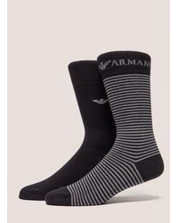 Emporio Armani - Mens 2-pack Socks Black - Lyst