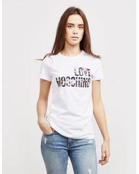 Love Moschino - Womens Cheer Short Sleeve T-shirt White - Lyst