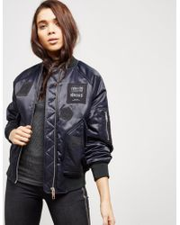 Versus - Womens X Zayn Patch Nylon Bomber - Online Exclusive Black - Lyst