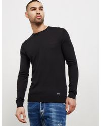 DSquared² - Mens Crew Knitted Jumper - Online Exclusive Black - Lyst