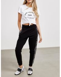 Karl Lagerfeld - Womens Logo Track Trousers Black - Lyst