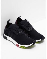 adidas Originals - Mens Nmd Racer Primeknit Black - Lyst