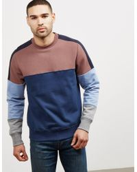 PS by Paul Smith - Mens Cut Up Sweatshirt - Online Exclusive Blue - Lyst
