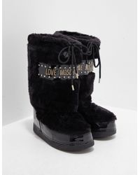 Love Moschino - Faux Fur Boots - Online Exclusive Black - Lyst