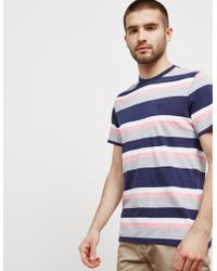 Barbour - Mens Foundry Stripe Short Sleeve T-shirt Navy - Lyst