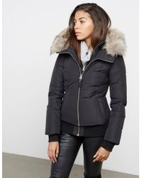 Mackage - Womens Romane Fur Padded Jacket Black - Lyst