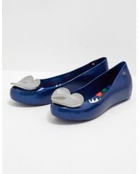 Melissa - Womens X Vivienne Westwood Anglomania Ultragirl Heart Navy/glitter - Lyst