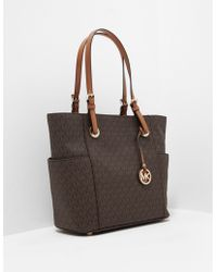 Michael Kors - Womens East West Signature Tote Bag Brown - Lyst