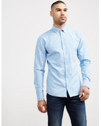 BOSS - Mens Preppy Oxford Long Sleeve Shirt Blue - Lyst