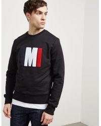 AMI - Mens Chenille Logo Crew Sweatshirt Black - Lyst
