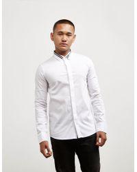 Emporio Armani - Mens Eagle Collar Long Sleeve Shirt - Online Exlcusive White - Lyst