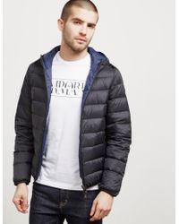 Emporio Armani | Mens Reversible Down Padded Jacket Black | Lyst