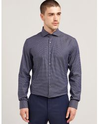 HUGO - Mens Jason Long Sleeve Shirt - Online Exclusive Navy Blue - Lyst