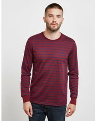 Polo Ralph Lauren - Mens Stripe Long Sleeve T-shirt Red - Lyst