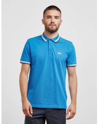BOSS - Mens Paddy Short Sleeve Polo Shirt Blue - Lyst