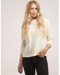 Maison Scotch - Cable Front Sweatshirt - Lyst