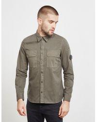C P Company - Mens Double Pocket Long Sleeve Shirt Green - Lyst