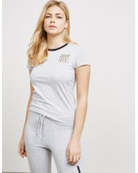 Juicy Couture - Womens Short Sleeve Ringer T-shirt - Online Exclusive Grey - Lyst