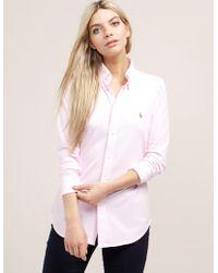 Polo Ralph Lauren - Womens Oxford Shirt Pink - Lyst