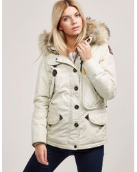Parajumpers - Womens Doris Padded Parka Jacket White - Lyst