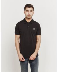 Belstaff - Mens Patch Short Sleeve Polo Shirt Black - Lyst