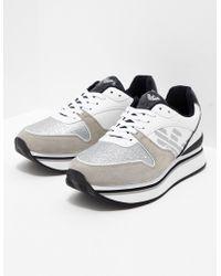 Emporio Armani - Womens Christina Sneakers White - Lyst
