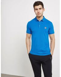 BOSS - Mens Passenger Short Sleeve Polo Shirt Blue - Lyst